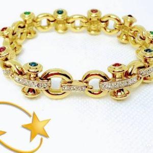 Swarovski Vintage pave link bracelet
